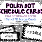 Printable Schedule Cards {Black Polka Dots)