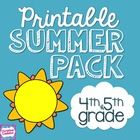 Printable Common Core Summer Packet- grades 4/5