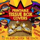 Printable Tissue Box Covers: Superhero Theme (includes six