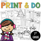 Printables December  Print and Do- No Prep Math & Literacy