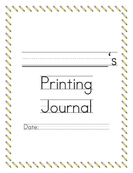 Printing Practice Book: 35 weeks of printing!!