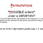 Probability, Permutations and Combinations notebook