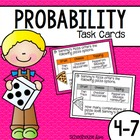 Probability Task Cards Word Problems + Assessment - TEKS A