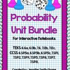 Probability Unit for Interactive Notebooks