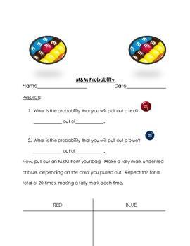 Probability with M & M's