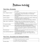 Problem Solving Guide: Strategies and Procedures