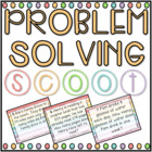 Problem Solving SCOOT! (task cards/review game)