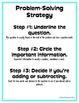 Problem-Solving Strategy Poster