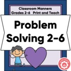 Problem Solving Student Worksheet: Classroom Management