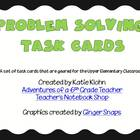 Problem Solving Task Cards for 4th-6th Grade