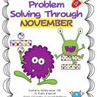 Problem Solving through November