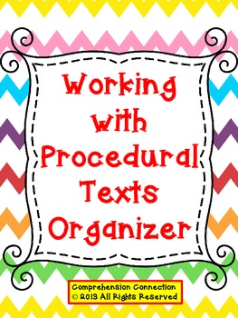 Procedural Text Organizer for Interactive Notebooks