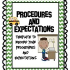 Procedures and Expectations Notebook:  Stick Kids