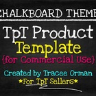 Product Template for Sellers: Chalkboard Theme