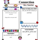 Programmable Classroom Newsletter Winter Wonderland Theme