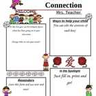 Programmable Classroom Newsletter World Wide Wee Ones Theme