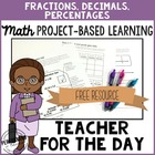 Project Based Learning: Test Grading & Data Fractions, Dec