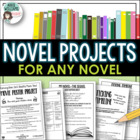 Projects for ANY Novel - Creative and Unique Worksheets