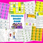 Pronouns Board Game Reading Center Station Activity