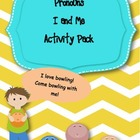 Pronouns I and Me Activity pack
