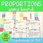 Proportional Relationships Game Board *~Aligned to Common