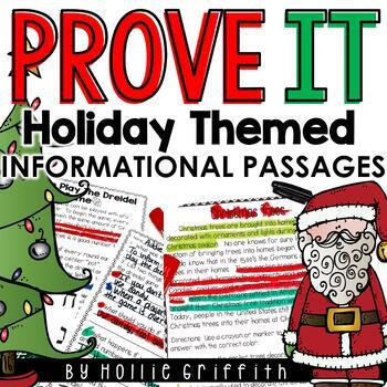 Prove It! {10 Holiday Themed Informational Passages & Comprehension Questions}