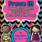 Prove It! - Proving Answers From The Text