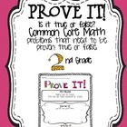Prove it! {2nd grade common core math problems}