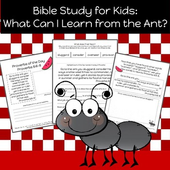 Bible Study for Kids: What Can I Learn From the Ant?