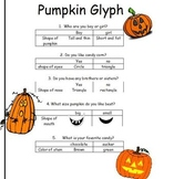 Pumpkin Glyph for K, 1st, or 2nd grades- art or after read