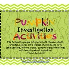 Pumpkin Investigation Activities