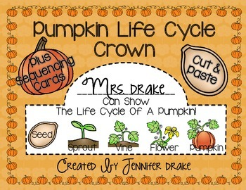 Pumpkin Life Cycle Crown PLUS Sequencing Card