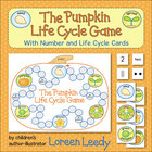 Pumpkin Life Cycle Game with Number Cards {Math + Science