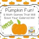Pumpkin Math ~ Ink Saving MathCenters