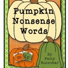 Pumpkin Nonsense Words - FREE!
