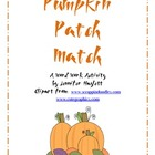 Pumpkin Patch Match - A Word Work Activity