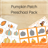 Pumpkin Patch Preschool Pack