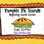 Pumpkin Pie Center {Beginning Sounds}