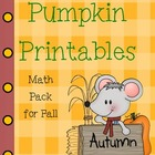 Pumpkin Printables Halloween Math Pack Common Core Aligned