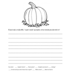 Pumpkin Quick Write