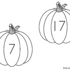 Pumpkin Read the Room Tens Frames Activity 1-20