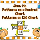 Pumpkin Show Me Patterns on a Hundred Chart Common Core Style