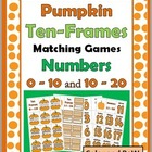 Pumpkin Ten-Frames Matching Games - Numbers 0-10 and 10-20