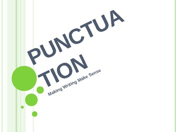 Punctuation Powerpoint 12 slides