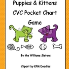 Puppies and Kittens CVC Pocket Chart Game