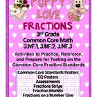 Puppy Love Fractions - 3rd Grade Common Core Math - 3.NF.1,2,3