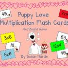 Puppy Love Multiplication Flash Cards and Board Game