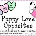 Puppy Love Opposites File Folder Game