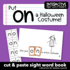 "Interactive Sight Word Reader ""Put on a Halloween Costume"""