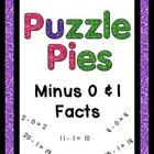 Puzzle Pies - Subtracting by 0 & 1